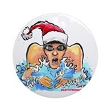 Xmas Swim Ornament (Round)