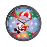Sky Dive Santa Wall Clock