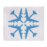 B-52 Aviation Snowflake Throw Blanket