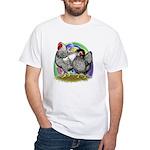 Easter Egg Wyandottes White T-Shirt