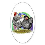 Easter Egg Wyandottes Sticker (Oval)