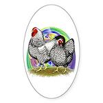 Easter Egg Wyandottes Sticker (Oval 10 pk)