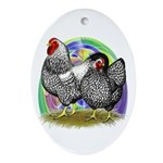 Easter Egg Wyandottes Ornament (Oval)