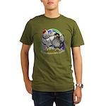 Easter Egg Wyandottes Organic Men's T-Shirt (dark)