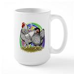 Easter Egg Wyandottes Large Mug