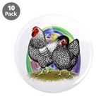 "Easter Egg Wyandottes 3.5"" Button (10 pack)"