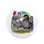 "Easter Egg Wyandottes 3.5"" Button"