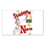 Student Nurse XXX Sticker (Rectangle)