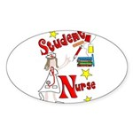Student Nurse XXX Sticker (Oval)