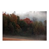 Late september ground fog Postcards (Package of 8)