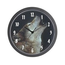 Wolf In The Mist Wall Clock