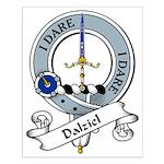 Dalziel Clan Badge Small Poster