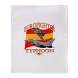 Spain Typhoon Throw Blanket