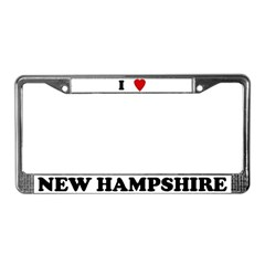 I Love New Hampshire License Plate Frame