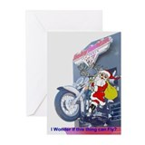 Santa on Harley Las Vegas Greeting Cards Pk of 10