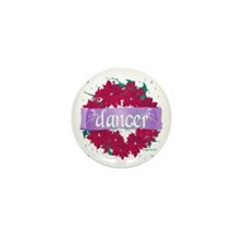 Dancer Wreath Christmas Cards Mini Button (10 pack