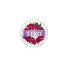 Dancer Wreath Christmas Cards Mini Button