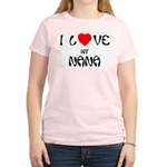 I Love My Nana Women's Pink T-Shirt