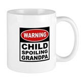 Child Spoiling Grandpa Small Mug