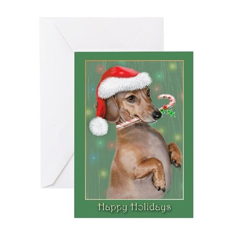 Dachshund Lillys Christmes Greeting Cards