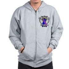 Bladder Cancer Warrior Zip Hoodie