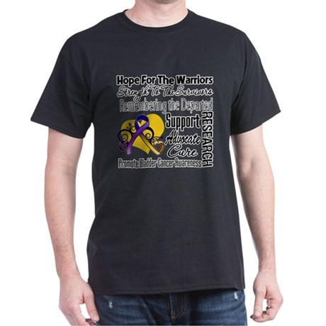 Hope Tribute Bladder Cancer Dark T-Shirt