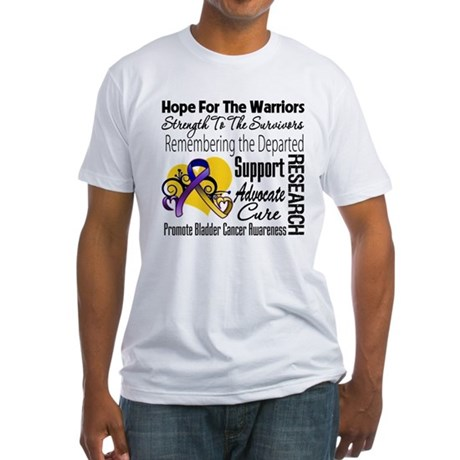 Hope Tribute Bladder Cancer Fitted T-Shirt
