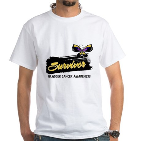 Bladder Cancer Survivor White T-Shirt