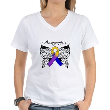 Bladder Cancer Awareness Women's V-Neck T-Shirt