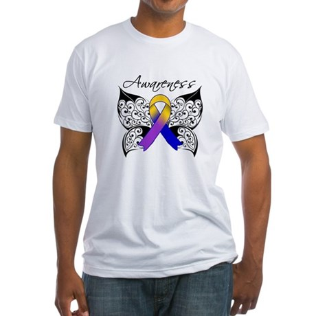 Bladder Cancer Awareness Fitted T-Shirt