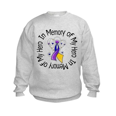 In Memory - Bladder Cancer Kids Sweatshirt