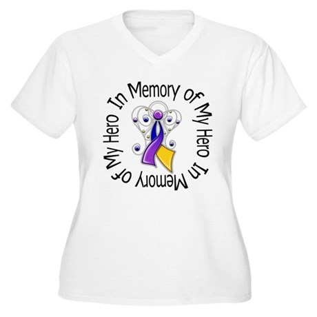 In Memory - Bladder Cancer Women's Plus Size V-Nec