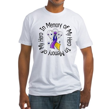 In Memory - Bladder Cancer Fitted T-Shirt