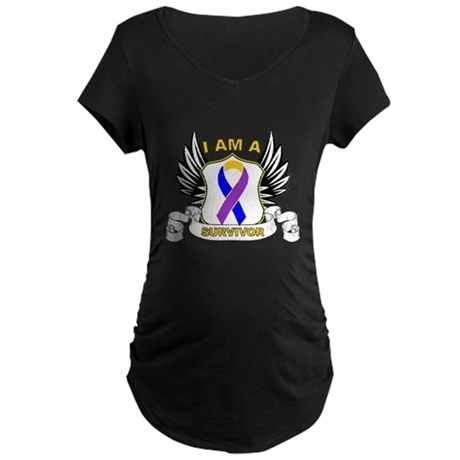 Survivor - Bladder Cancer Maternity Dark T-Shirt