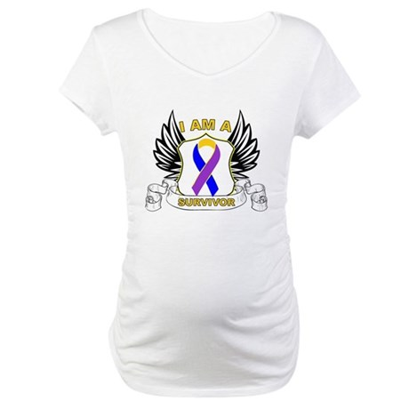 Survivor - Bladder Cancer Maternity T-Shirt
