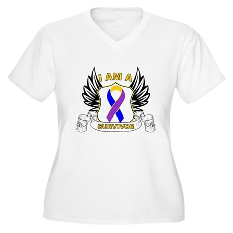 Survivor - Bladder Cancer Women's Plus Size V-Neck