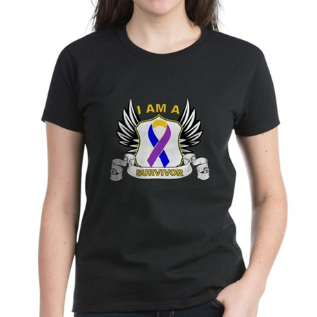 Survivor - Bladder Cancer Women's Dark T-Shirt