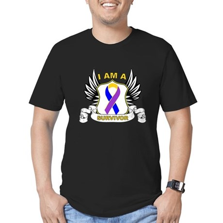 Survivor - Bladder Cancer Men's Fitted T-Shirt (da