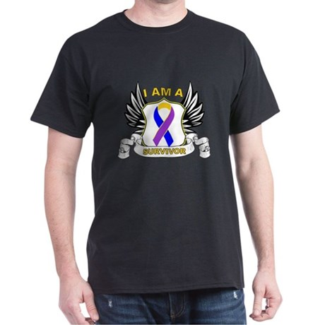 Survivor - Bladder Cancer Dark T-Shirt