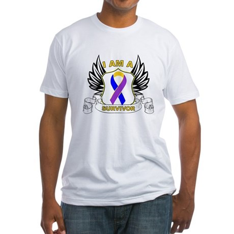 Survivor - Bladder Cancer Fitted T-Shirt