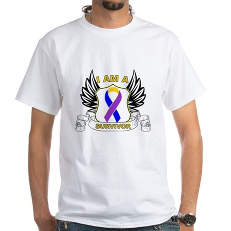Survivor - Bladder Cancer White T-Shirt