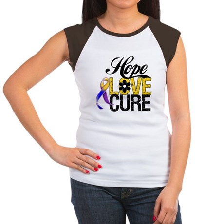 Hope Love Cure Bladder Cancer Women's Cap Sleeve T