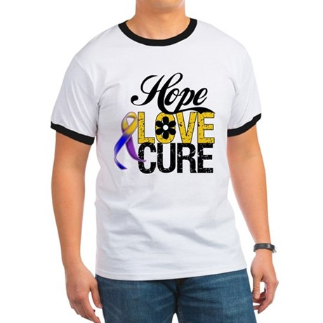 Hope Love Cure Bladder Cancer Ringer T