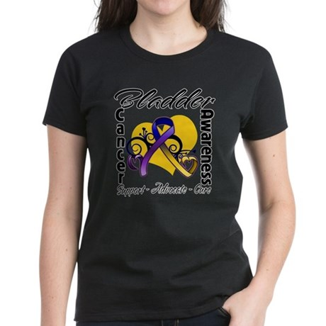 Awareness Bladder Cancer Women's Dark T-Shirt