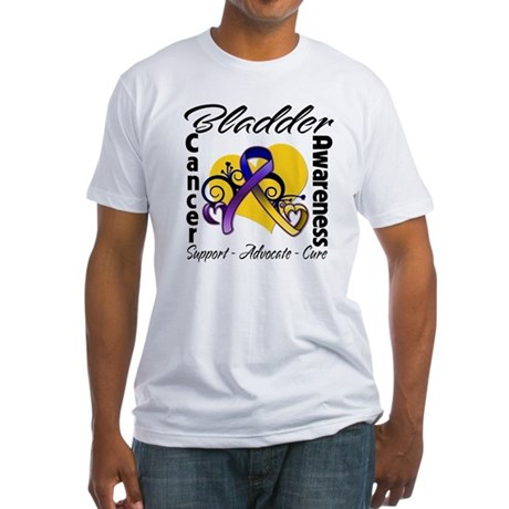 Awareness Bladder Cancer Fitted T-Shirt