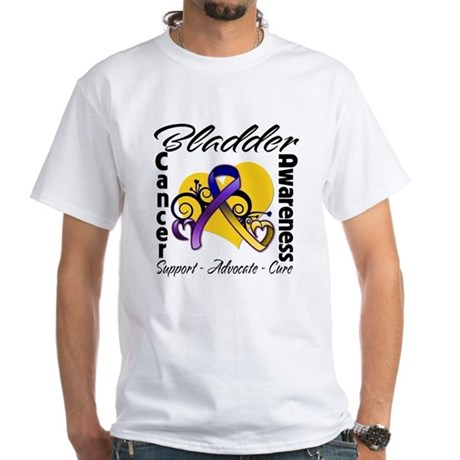 Awareness Bladder Cancer White T-Shirt