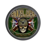US Army National Guard Skull Wall Clock