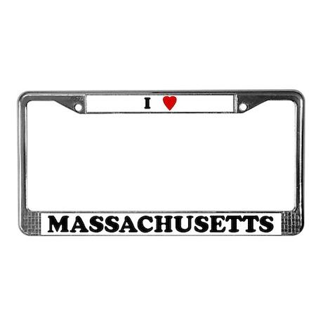 I Love Massachusetts License Plate Frame