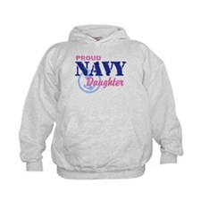 Proud Navy Daughter Hoodie