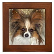 """Butterfly Ears"" Papillon Framed Tile"